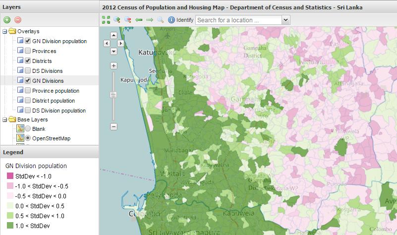 on census maps